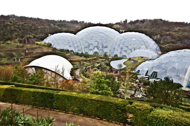 The Biomes of the Eden Project in Cornwall, England