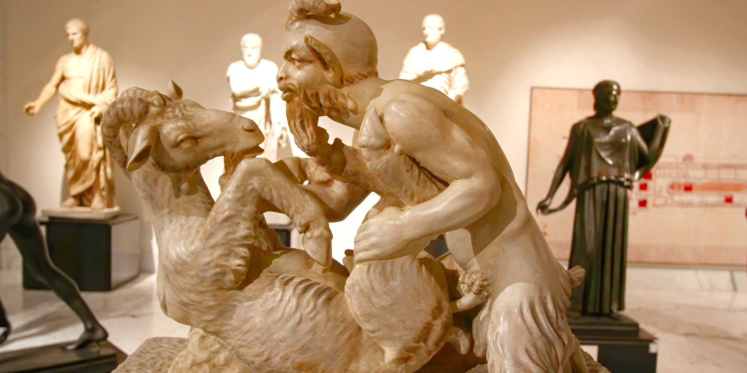 Italy-Naples-National-Archaeological-Museum-Secret-Cabinet-erotic-sculpture Pan copulating with a goat