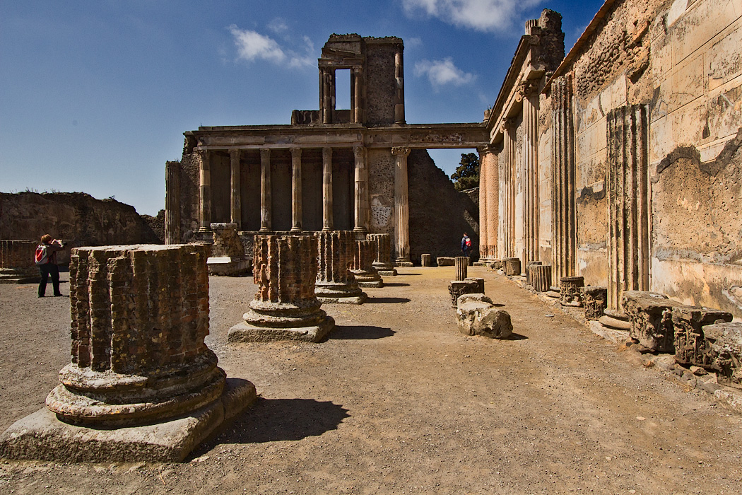 The Basilica at Pompeii was one of the most important buildings in the ancient town. Here, groups gathered to discuss business and deal with legal matters