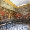 PHOTO: Frescoes in the Villa dei Misteri at Pompeii, Italy