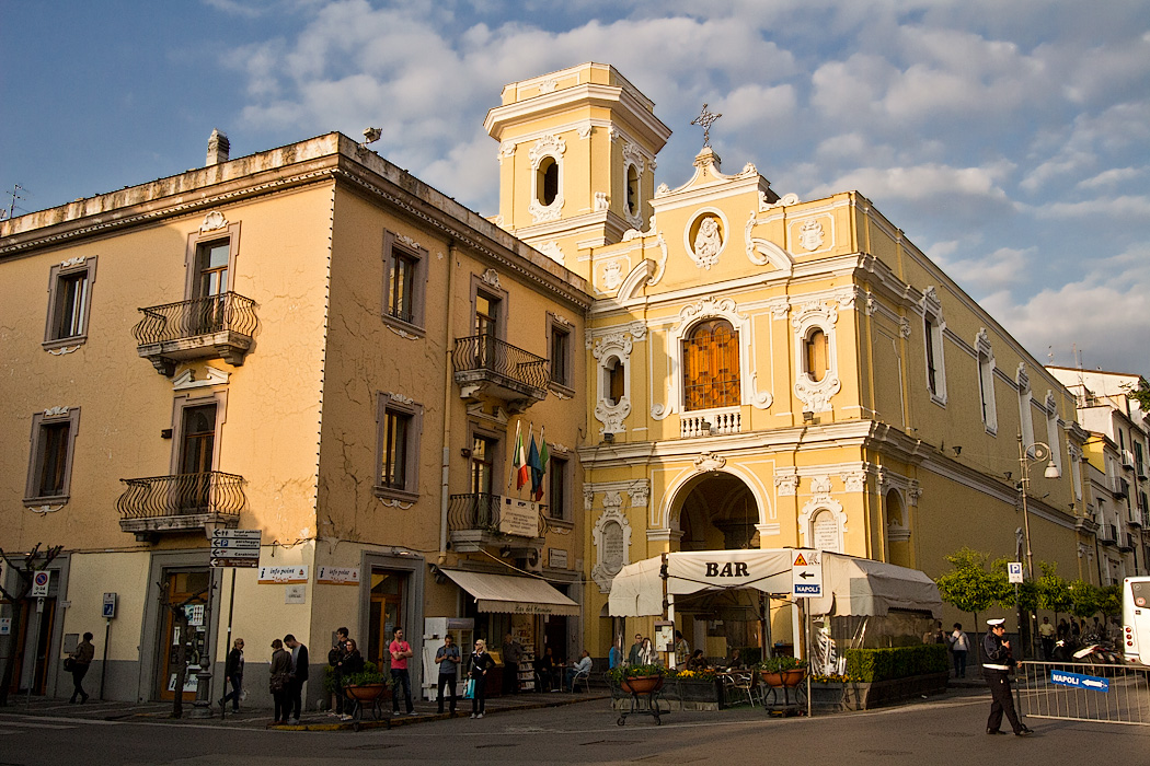 Sanctuary of Carmine on Piazza Tasso in Sorrento, Italy