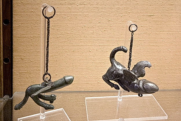Bronze winged phallus may have symbolized the Roman deity of fertility, Fascinus