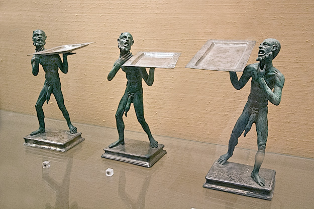 Bronze statues of serving slaves with huge penises were likely meant to amuse guests at a banquet