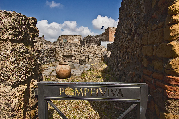 Most structures in Pompeii lost their roofs and second stories from the sheer weight of the ash that fell