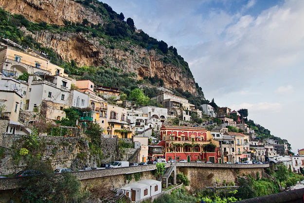 Villages cascade down rugged cliffs on the Amalfi Coast