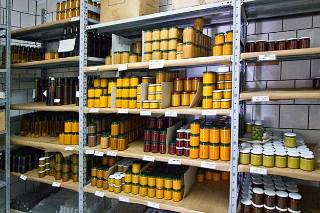 Marmelade preserves, green and black olive pate, and sun-dried-tomatoes are some of the other products produved at Fattoria Terranova