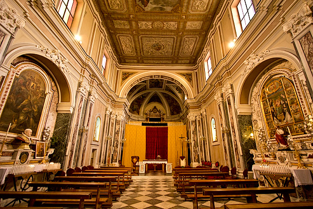 Interior of Church of Saints Felix and Baccolo also known as Church of the Rosary