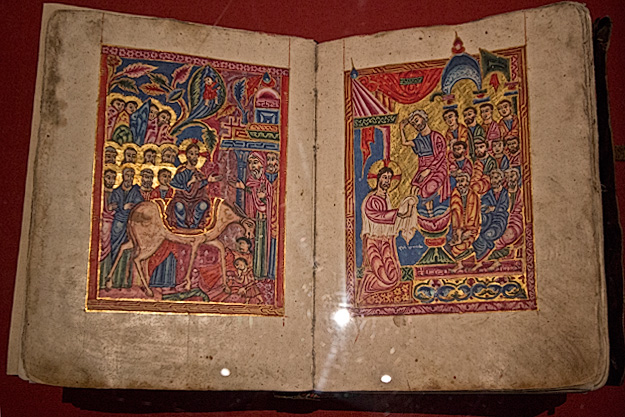 The Book of Kells at Trinity College in Dublin, Ireland