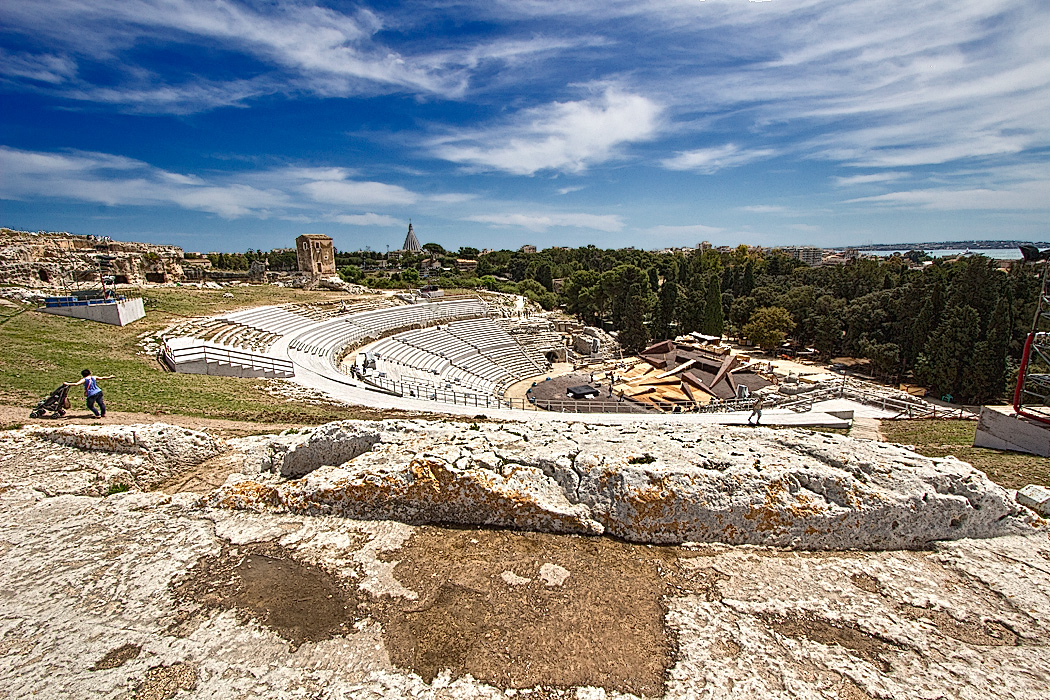 Greek Amphitheater in Syracuse, Sicily, Italy