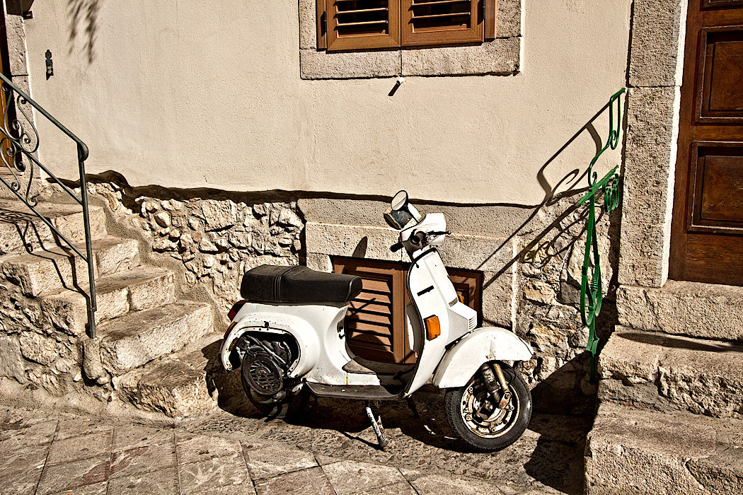 n the narrow cobbestone streets of Taormina, Sicily, mopeds are a preferred means of getting around