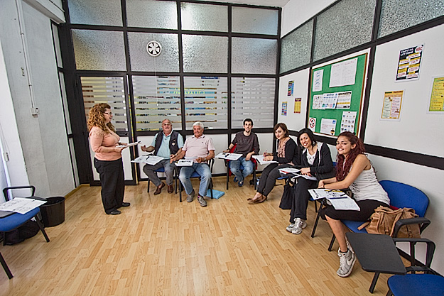 Intermediate English class at ElanGuest English Language School