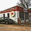PHOTO: Old Service Station on Route 66 in Odell, Illinois