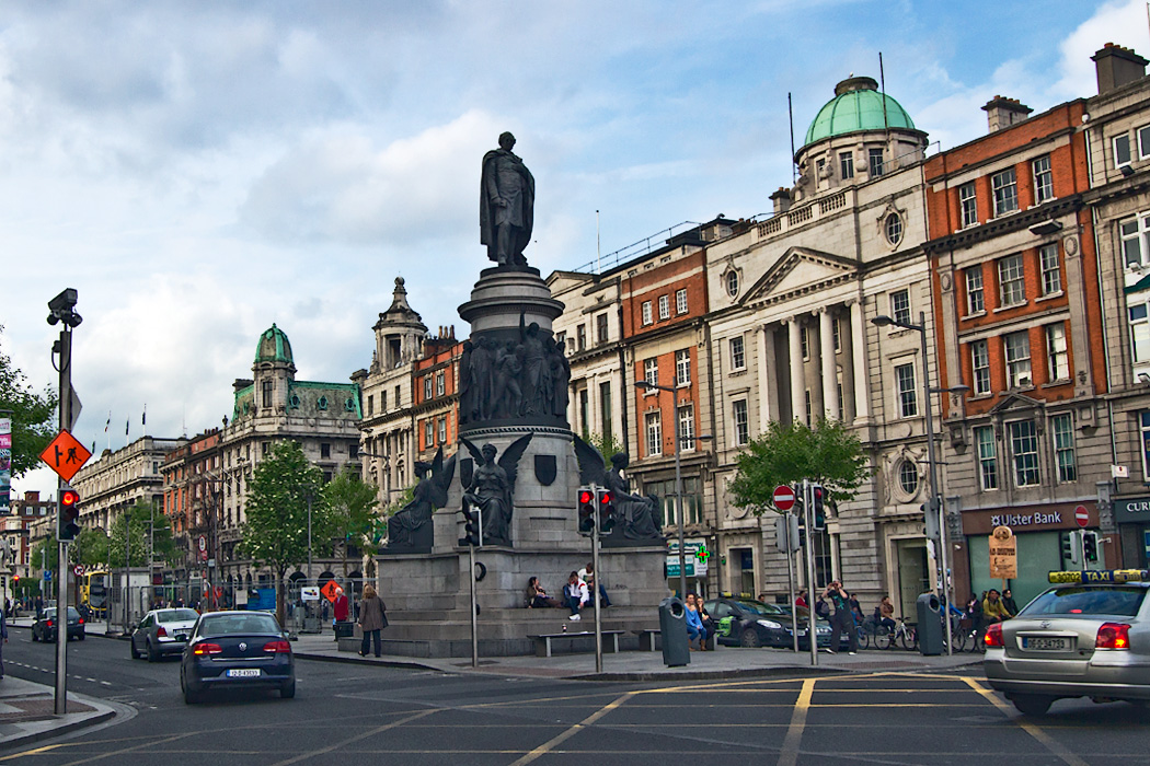 O'Connell Street, the main thoroughfare in Dublin, Ireland, is named in honor of Daniel O'Connell, a nationalist leader of the early 19th century