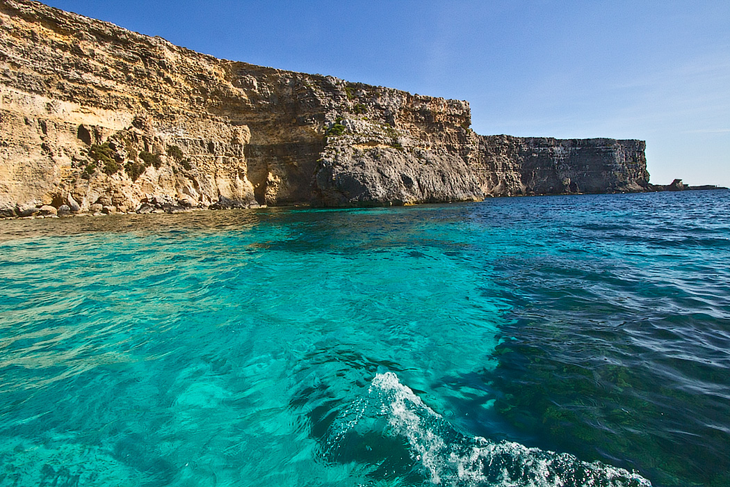 Sea cliffs of Comino