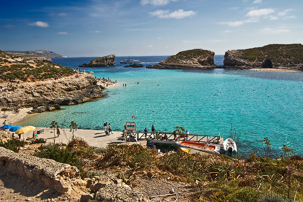 Blue Lagoon on Comino in the Maltese Islands
