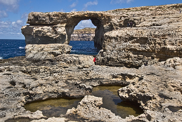 The Azure Window, a natural limestone formation on the island of Gozo in the Maltese Islands