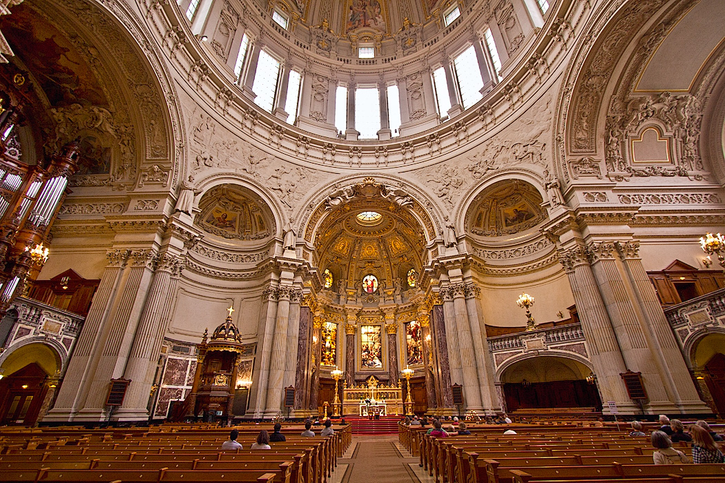 Interior of the Berliner Dom Protestant Cathedral in Berlin