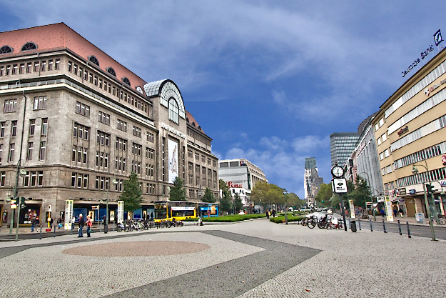 Wittenburg Platz, home to KaDeWee Department Store and many upscale shops, became the capital of West Berlin after the city was divided