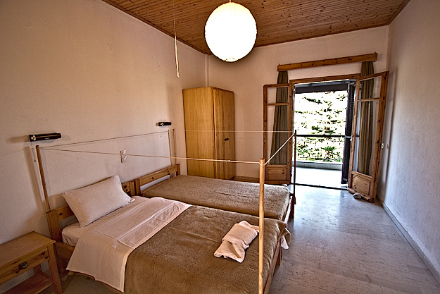 My huge bedroom, with balcony that looked out over the Mediterranean