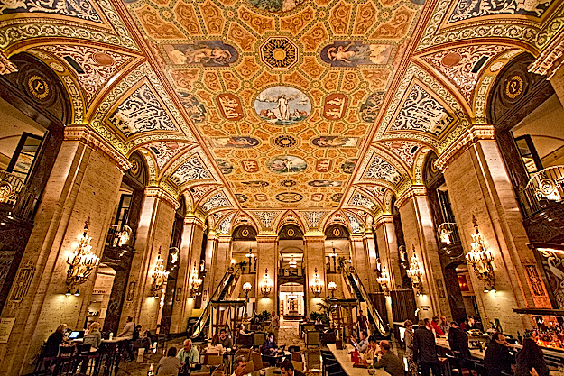 Ceiling fresco by French painter at the Chicago Palmer House