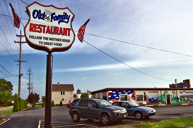 Old Family Restaurant on Route 66 in Dwight, Illinois