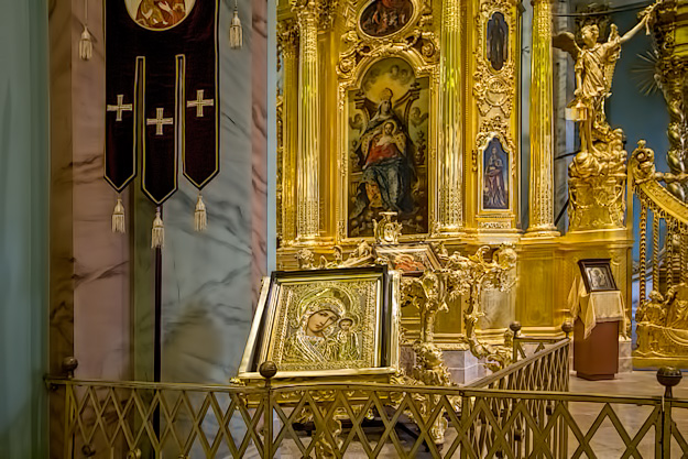 Icon at Saints Peter and Paul Cathedral in St. Petersburg, Russia