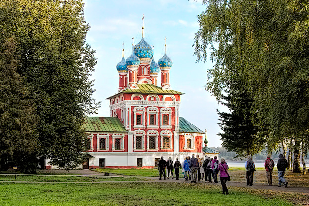 Saint Dmitry on the Blood Cathedral in Uglich, Russia
