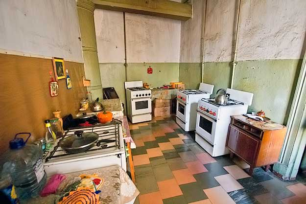 Residents each have their own stove in the shared kitchen