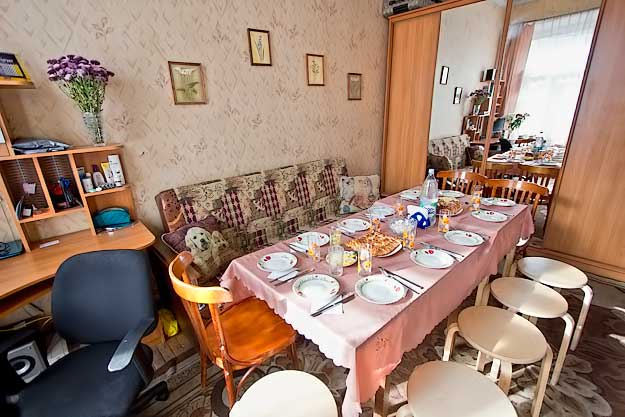 Dining room in the private kommunalka apartment of Irina