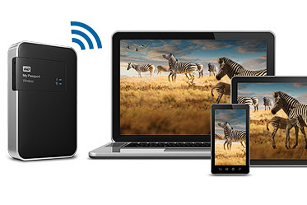 Connect all your devices to the WD My Passport Wireless external hard drive
