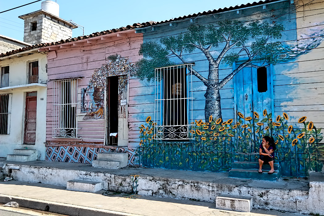 Neighborhood murals created by Trazos Libres community art project in Cienfuegos, Cuba