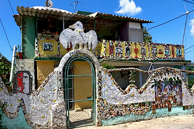 Another house decorated by artists from Proyecto Fuster in Havana, Cuba