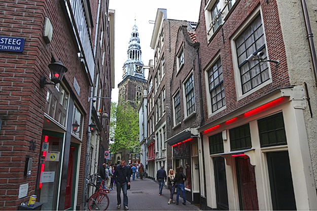 The Red Light District of Amsterdam