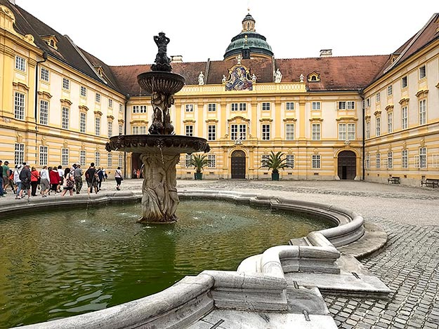 Magnificent Melk Abbey, along the Danube River's Wachau Valley