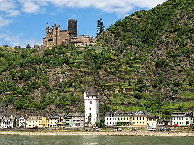 Katz Castle, along the Middle Rhine in St. Goarshausen, Germany