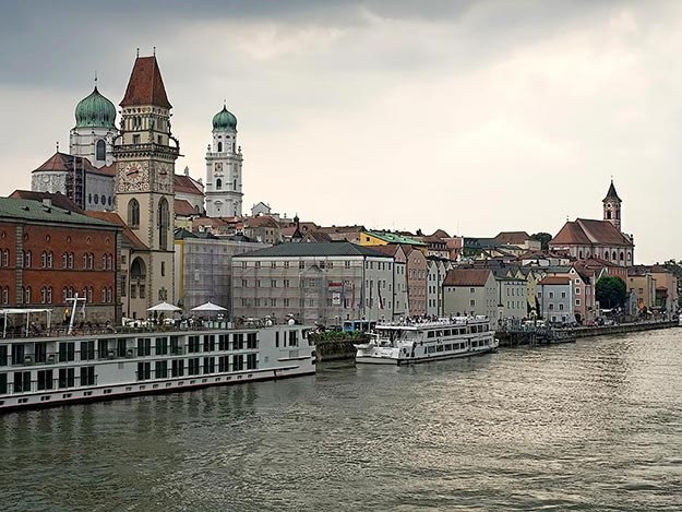 Passau, Germany on the banks of the Danube River