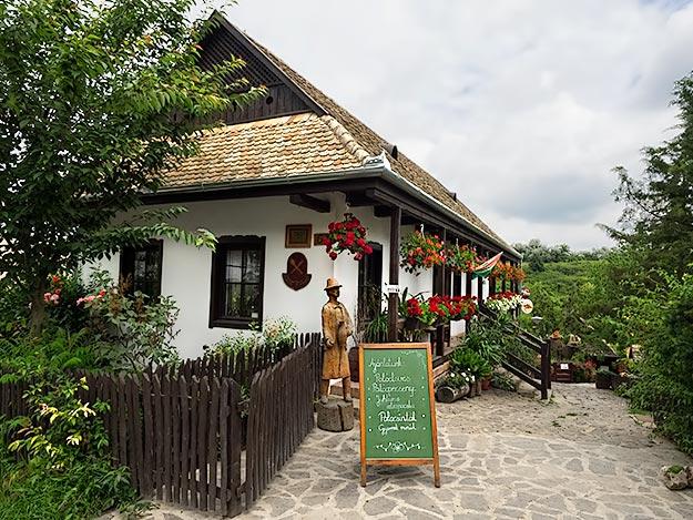 Traditional Palócz home in Holloko, Hungary is one of several restaurants in the village