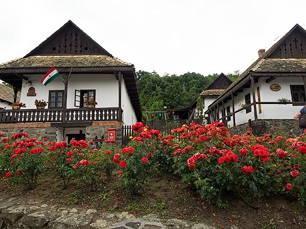 Traditional homes in the historic center of Holloko, Hungary