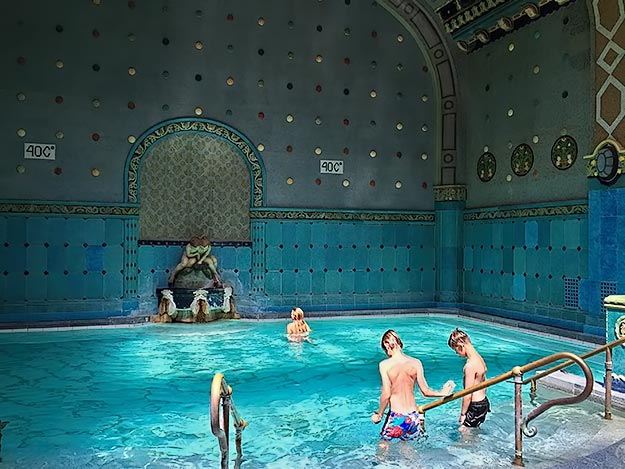 One of the thermal baths at Gellert Spa