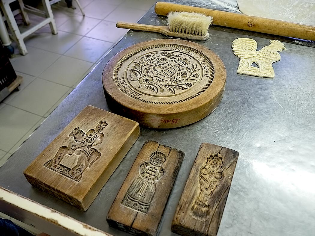 Carved by hand, these honey cake molds have been used to make the popular Hungarian cookies for hundreds of years in Debrecen, Hungary