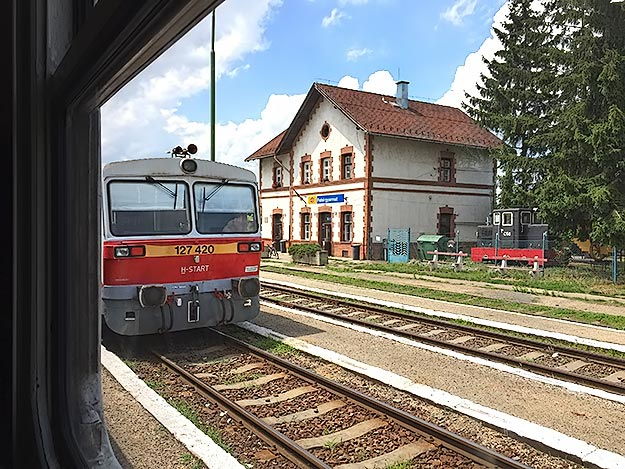 My clickety-clack rural train to Debrecen, Hungary