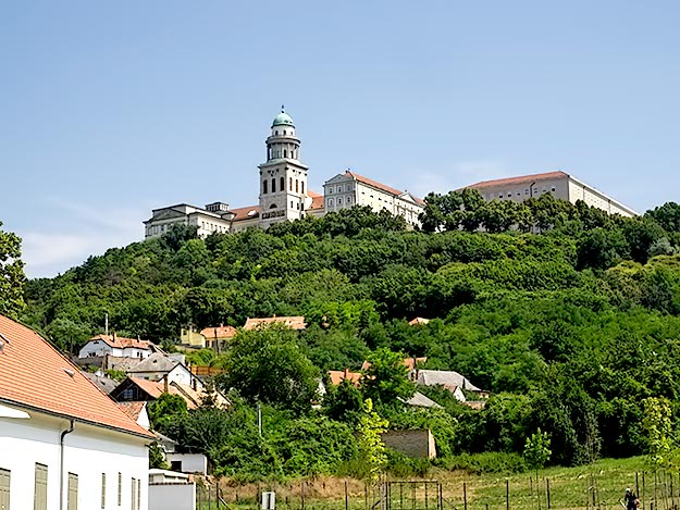 Pannonhalma Monastery, a Benedictine Abbey that is currently home to 50 monks
