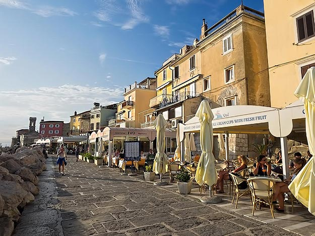 The waterfront in Piran is beautiful, as is the country, but Slovenian tourism is not ready for the big time