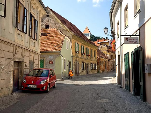 Streets of lovely old Ptuj, Slovenia