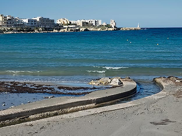 Otranto, Italy, in the far southern part of Puglia, is a study in blue and white