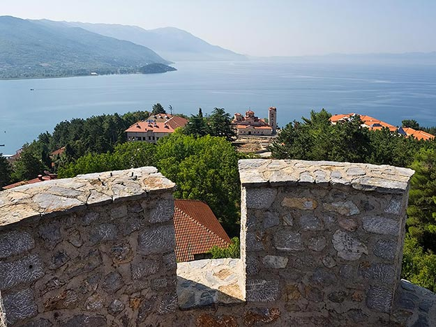 Samuii's Fortress offers exquisite views of Lake Ohrid and St. Clement and the ancient Panteleimon Church