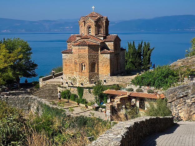 St. Jovan Church, one of the more picturesque of the 365 churches that once stood at Lake Ohrid, Macedonia, leading residents to say that they had a different church for every day of the year