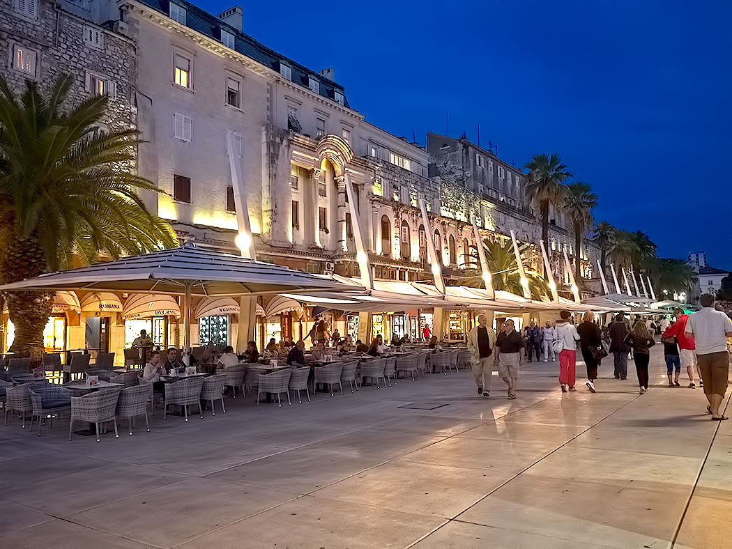 Strolling along the Riva in Split, Croatia