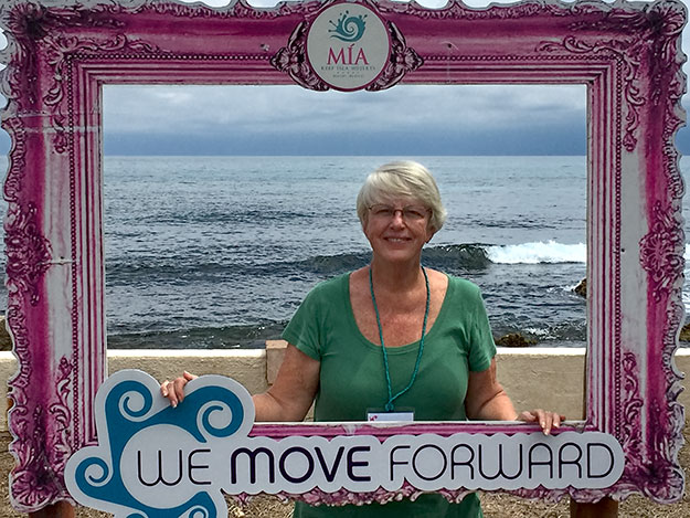 A Kodak moment at the We Move Forward Women's Conference on Isla Mujeres, Mexico