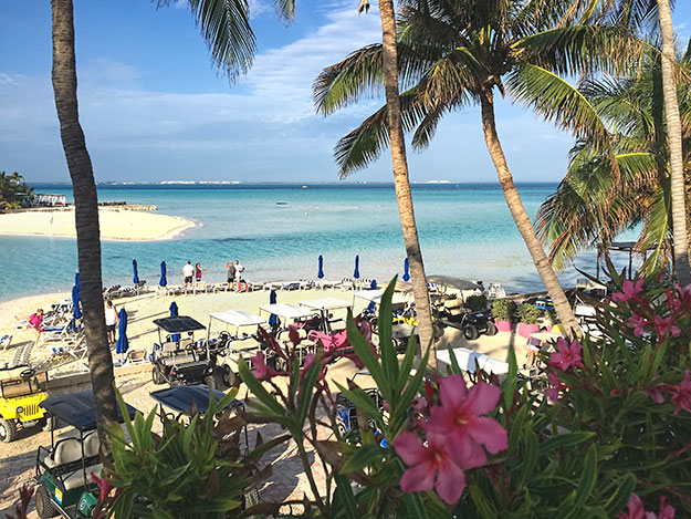 "Beautiful beaches at the MIA Reef Hotel on Isla Mujeres, the ""Island of Women"""